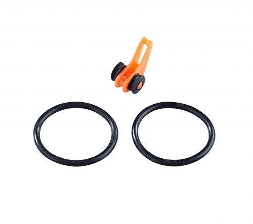 Balzer Hakenhalter für Ruten schwarz//orange Halter 2 Hakenösen für Spinnruten