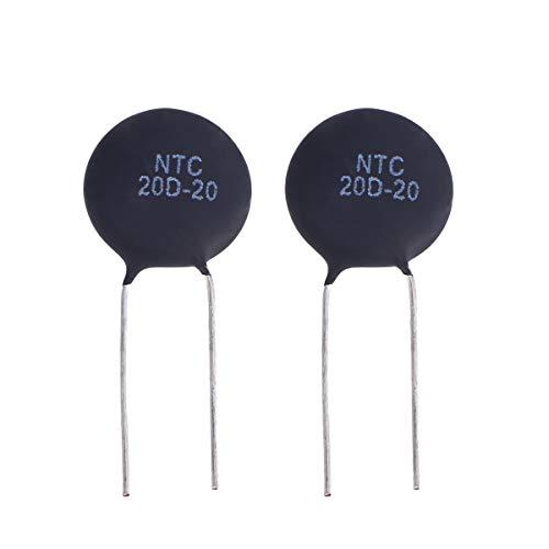 UKCOCO 2 Stücke Aqua-Rite Thermistor Widerstand Thermistor Kondensator Sortiment Kit Elektronische Ausrüstungen (NTC20D-20) -