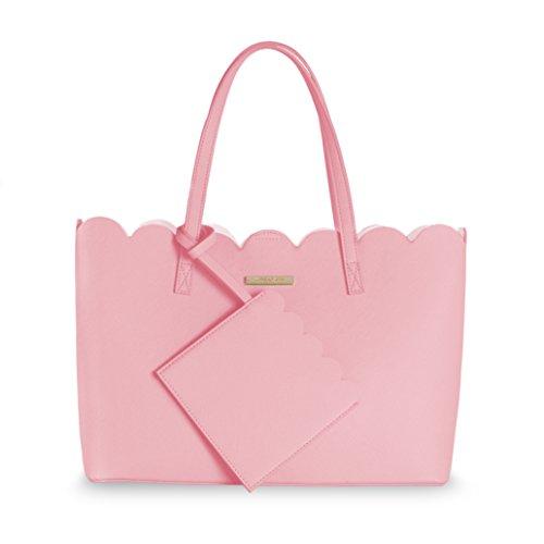 Katie Loxton–Pretty Poppy Scallop Handtasche–Blush Pink–26x 35cm (Pink Scallop)