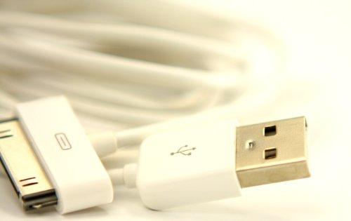 3M besonders lange USB-Ladekabel für IPOD NANO 1. 2. 3. 4. GEN Touch 2. Gen Brand New Weiß - 3. Gb Generation Nano Ipod 16