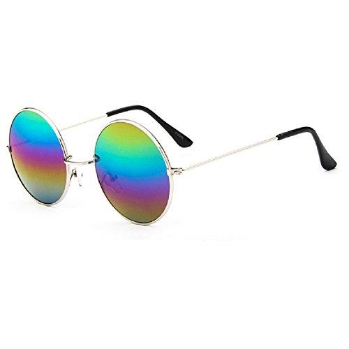 o-c-unisex-classico-flap-giacca-50-mm-occhiali-da-sole-silver-framemulticoloured-lens