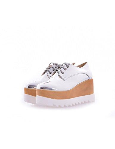 Studio Creazioni , Chaussures de ville à lacets pour femme Argent