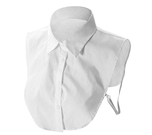 Aitos Fashion Doll Kragen Vintage Elegante Damenhalb Fake Hemd Bluse Weiß Abnehmbare ... (Weiß 2)