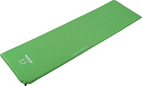 Atepa classic comfort lettino materassino ad aria autogonfiante per eventi all'aperto escursioni e campeggio festival(verde)
