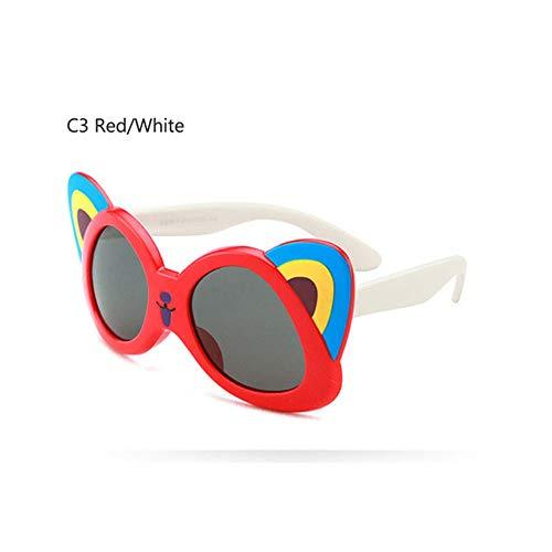 Wang-RX Mädchen Cartoon Panda Sonnenbrille Kinder Polarisierte Kinder Brille TR90 Flexible Sicherheitsrahmen Shades Für Jungen Mädchen UV400