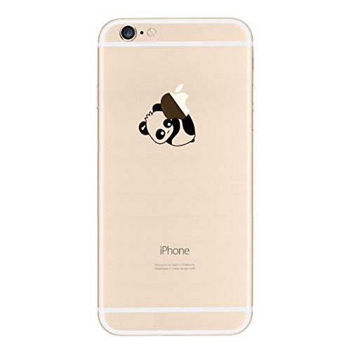 Yokata iPhone SE / iPhone 5 / iPhone 5s Hülle Transparent Weiche Silikon Handyhülle Schutzhülle TPU Handy Tasche Schale Etui Weich Silicone Bumper Ultra Dünn Slim Schlank Durchsichtig Handytasche Prem Lege den Panda Hinunter