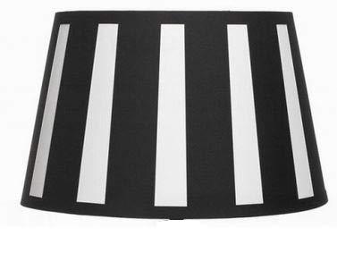 Lampenschirm-oval schwarz-weiss-gestreift konische Form Ø 25cm (15 * 25 * 16cm) -