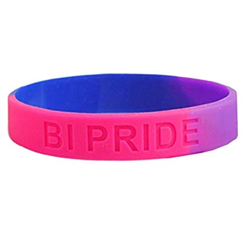 Gjyia 18 Arten Unisex LGBT Regenbogen Buchstaben Sport Armband Sechs-Farben Homosexuell Lesben Stolz Silikonkautschuk Armband Partei Parade
