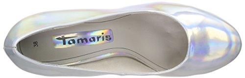Tamaris Damen 22462 Pumps Silber (SILVER 941)
