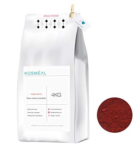 Arcilla Roja En Polvo Francesa 4KG - 100% Puro Y Natural