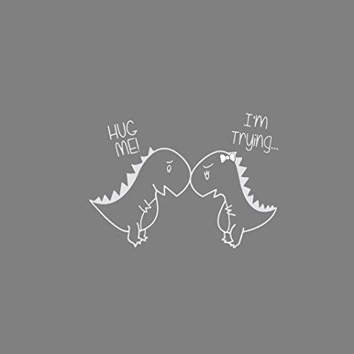 Hug Me - Herren Langarm T-Shirt Weiß
