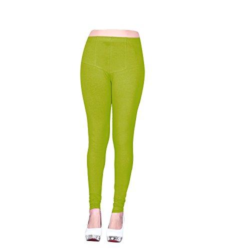 Vatsla Enterprise Women\'s Cotton XL Leggings( Leggingsxl030_GREEN_ COLOUR )