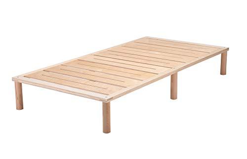 Gigapur G1 29692 Bett | Bettgestell mit Lattenrost | Birke Natur Schicht-Holz | belastbar bis 195 kg je Element | 100 x 200 cm -