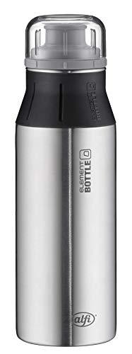 alfi 5357.102.060 Trinkflasche elementBottle, Edelstahl Pure 0,6 l, Spülmaschinenfest, BPA-Free