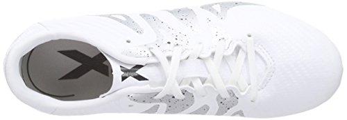 adidas Performance X15.3 FG/AG, Chaussures de Football Garçon Blanc - Weiß (Ftwr White/Core Black/Silver Met.)