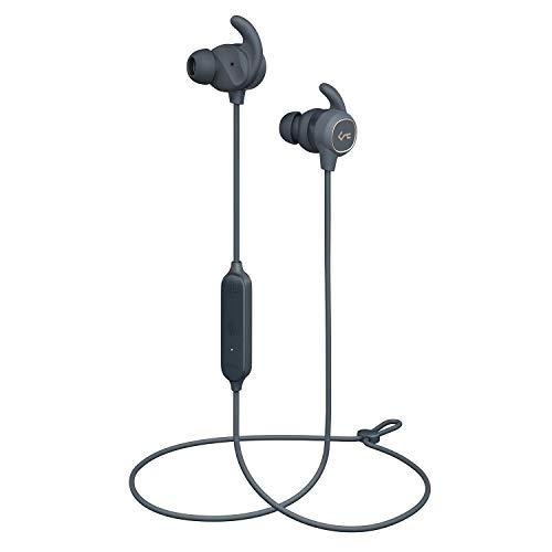 AUKEY Bluetooth Kopfhörer in Ear mit Deep Bass, Wasserfestigkeit IPX6, USB C Laden, Key Series B60 Sport Bluetooth 5 Headphones für iPhone, Apple Watch, Android, Echo Dot und Weitere Geräte