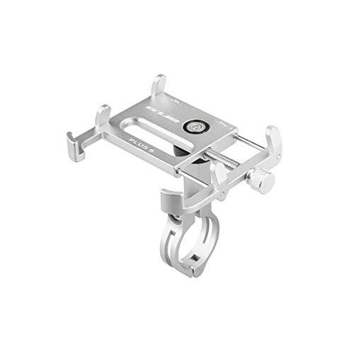 ETbotu Fahrrad Handy Halterung,MTB Rack Motorrad Aluminiumlegierung Ständer Silber (Geräte-rack Elektronische)