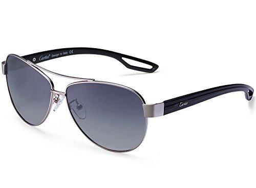 Carfia Aviator Sonnenbrille Damen Herren Polarisierte Sonnenbrille Pilotenbrille UV400 Schutz Outdoor Sonnenbrille, inkl. Etui und Putztuch (D)