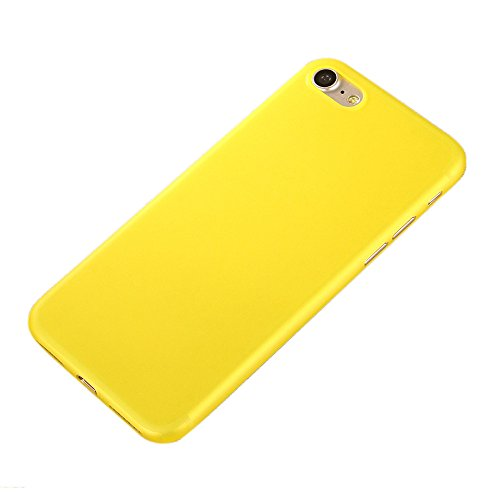 iPhone 7 Custodia, SW Ultra Sottile Caramelle di Colore Plastica Case Cover Giallo giallo