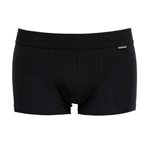 sunnymi Hipster Nahtlos Herren Boxershorts Flache Shorts Pants/Größen M L XL 2XL/Klassischen Grundfarben/Jungen Man Unterhose Seamless (XXL, Schwarz) (Casual Falten-shorts Male)