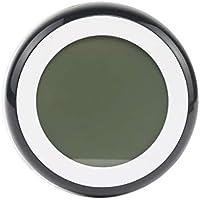 fgyhtyjuu ° C / ° F Digital termómetro higrómetro Temperatura Metro de la Humedad Reloj Touch Key con luz de Fondo