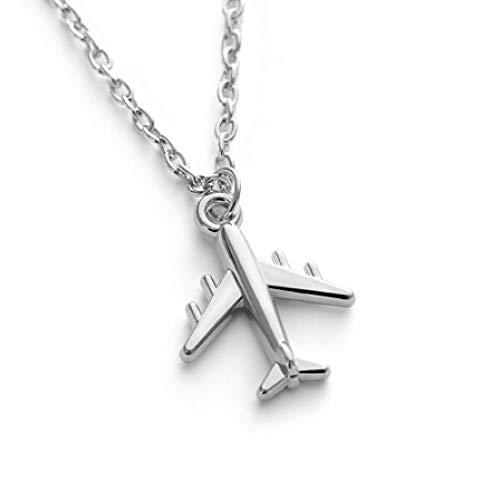 Nrxue Halsketteflugzeug Anhänger Halskette Flugzeug Halskette Legierung Schlüsselbein Kette