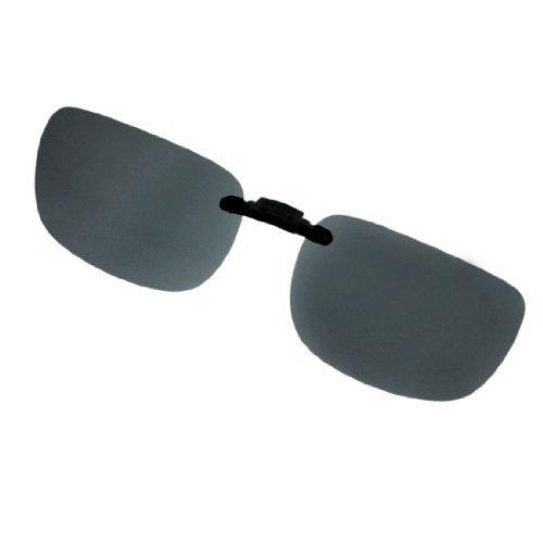 DealMux Schwarzes Plastikobjektiv Reisen Clip on polarisierten Sonnenbrillen w Fall