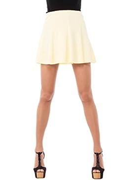 Solo Capri Minigonna a Campana, Falda para Mujer