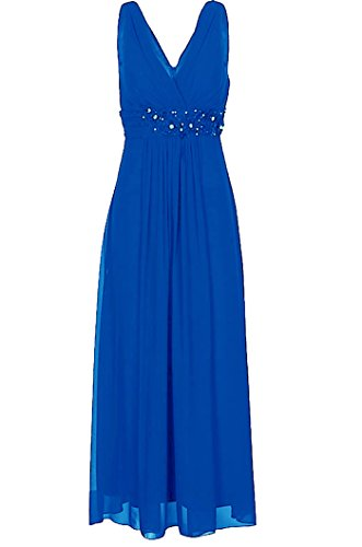 Lautinel Chiffon Abendkleid Ballkleid Festkleid lang Destiny Royalblau (44)