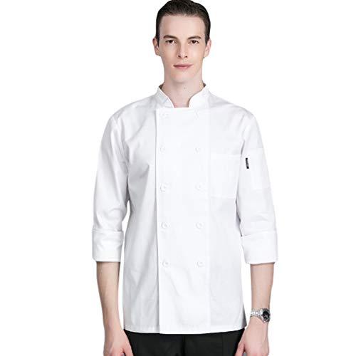 Dooxii Unisex Donna Uomo Autunno Inverno Manica Lunga Giacca da Chef  Traspirante Professionale Torta di Cottura 85194140bd81