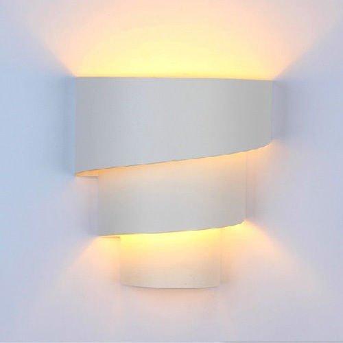9W LED Wandleuchte Wandlampe Effektlampe Warmweiß Wandlicht Birne Deckenlampe Flurlampe Eisen Lampe Austauschbar
