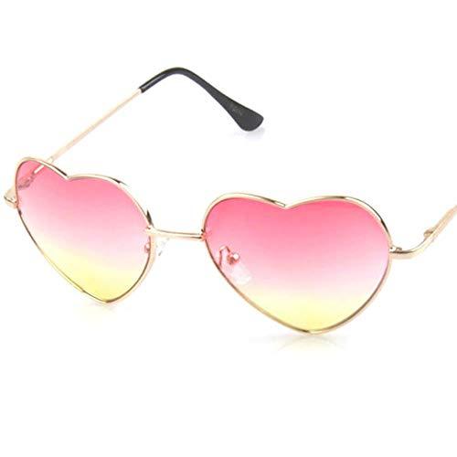 Passionate turkey Leidenschaftlich türkei herzförmige Sonnenbrille Frauen rot Damen Metall reflektierende lenes Sonnenbrille männer Spiegel oculos de sol Sonnenbrille Frauen, c4