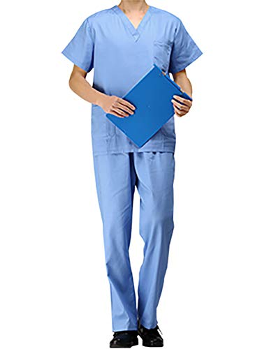 PICTURESQUE Uniforme Médico Ropa Quirúrgica de Manga Corta Bata Médico Laboratorio Enfermera Sanitaria...