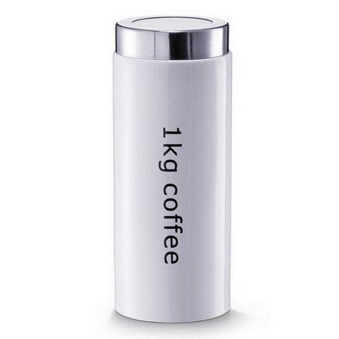 1x Kaffeedose '1kg Coffee', Keramik, weiß Glas, kleines Glas