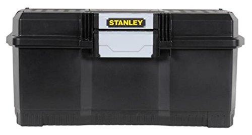 """Stanley Werkzeugbox / Werkzeugkoffer (24\"""", 60.5x28.7x28.7cm, mit Schnellverschluss, stabiler Werkzeugkasten im Structural-Foam-Design, Aussparung im Deckel) 1-97-510"""