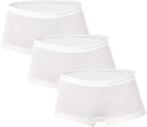 Brubeck® 3er Set BX10440 Boxer - Merino Wolle, atmungsaktiv antiallergisch, Größe:XL;Farbe:Weiß