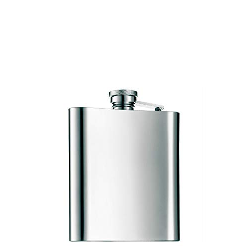 WMF Manhattan Flachmann, 200 ml, 20cl, Cromargan Edelstahl mattiert, 13 x 10 cm, Geschenkidee