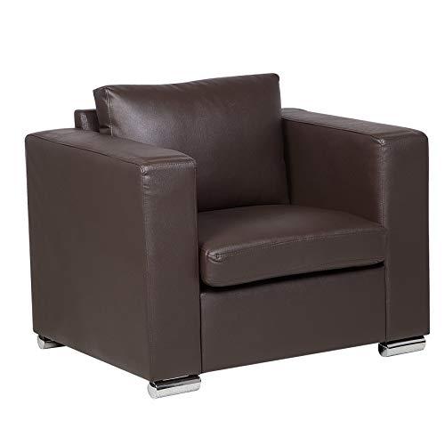 3-teiliges Leder-bett (Sofa/Couch Braun - Ledersofa/Ledercouch Helsinki)