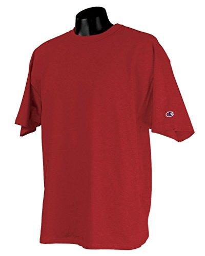 Champion 7 oz-Baumwoll T-Shirt Heritage Jersey, WHITE, S, 7 oz Heritage Baumwolle Rot - Scharlachrot