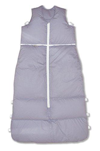 Premium Daunenschlafsack, längenverstellbar, Alterskl. ca 12-24 Monate, Silver uni Pünktchen, 110 cm