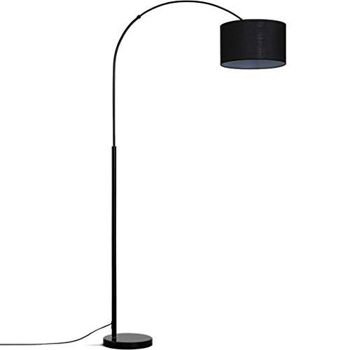 *Stehlampe Stehlampe, LED gebogenes Stehlampensofa hinter dem Wohnzimmer, das kreative Bett-Kopf-lange Arm-Schwarz-Stehlampe beleuchtet Stehlampe gewölbt (Color : Yellow light)
