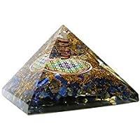 Orgonite Pyramide avec Fleur de Vie multicolore - Lapis Lazuli
