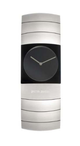 Jacob Jensen Arc Series Women's Quartz Watch with Black Dial Analogue Display and Silver Titanium Strap 580