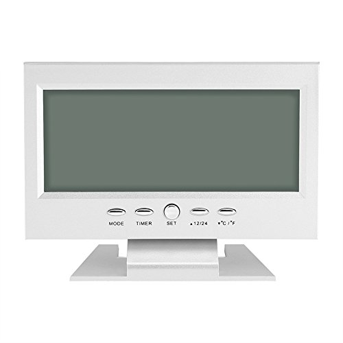 Aramox Reloj Digital eléctrico, Reloj de Alarma de Escritorio de Mesa de Sensor de Sonido Digital LCD...