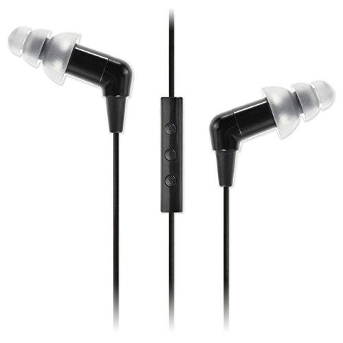 Etymotic ETY-Kids3, geräuschunterdrückendes In-Ear-Headset für Kinder, inkl. Mikrofon & 3-Tasten-Kabelfernbedienung für iPhone, Schwarz