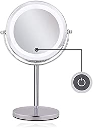 Conbo Lighted Magnifying Mirrors - 1x / 10x Magnification Eye Make up Magnifying Mirror With Light - Touch Scr