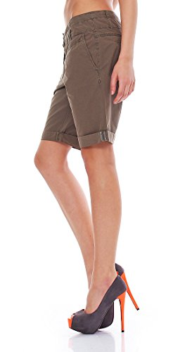 M.O.D Damen Bermuda Shorts BS015 in Citron oder Fossil Fossil