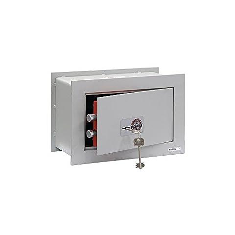 Arregui Domus BC/2P Wall Safe 35x 23x 20cm Front Monobloc 6mm 2mm Body 2Clasps 18mm Double Lock Security Key Map