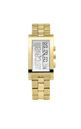 Just Cavalli 'Jc Jumbo' Men's Analog and Digital Quartz Watch with Gold PVD Bracelet