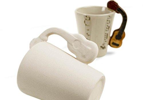 Imagen de  taza de café cerámica hecho a mano 8oz acústica sin pintar 10cm x 8cm  alternativa